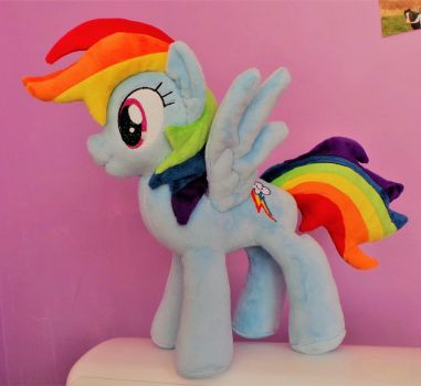 Rainbow Dash Plushie by Pinkamoone