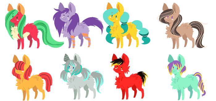 More Pony adopts! ( 5/8 OPEN) by fluff-and-jellyadopt