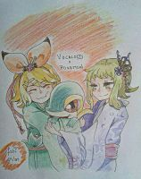 Dibujo Vocaloid x Pokemon by FabiolaAguado