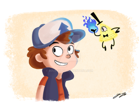 Dipper and Bill by BoukenRed