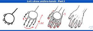 Anthro hand tutorial part I by Mutabi