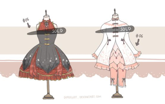 [CLOSED] Adoptable Set 3 - Chinese Theme by Demifluff