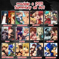 2011 Art Summary by mazjojo