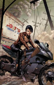 Zenescope's THE COURIER Issue One Cover by DrewEdwardJohnson