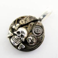 Stempunk Pirate Skull Pendant by Create-A-Pendant