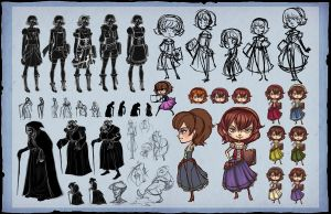 Grimm Tales: Character process by Aerlynn