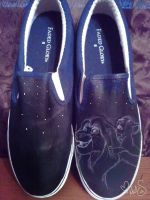 work in progress lion king shoes by Miss-Melis