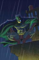 Batman - Rain by JLillustrator