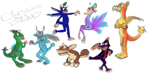 A few of my SPORE creatures by AdolfWolfed4Life