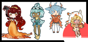 Poke'gijinka ADOPTS (OPEN) by SparrowBerry