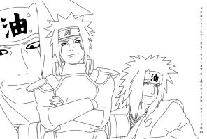 Jiraiya Collage Lineart by synyster-gates-A7X