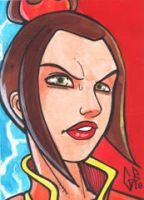SketchCard: Avatar AZULA by Axigan