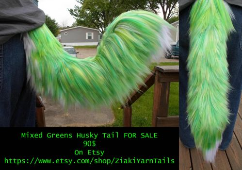 Mixed Greens Husky Tail (FOR SALE) by serenitymoonwolf