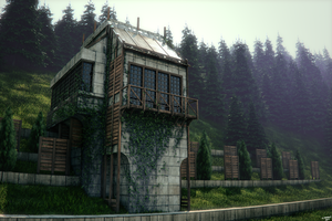 Concrete Forest Home by ganymedegraphics