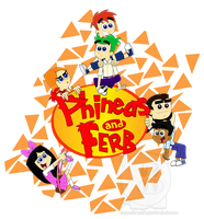 Phineas and Ferb by Leneeh