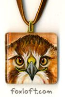 Red Tail Smile Pendant by Foxfeather248