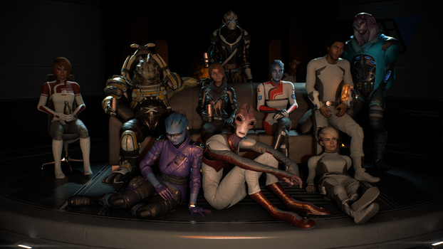 mass effect andromeda the team by theunknownemo