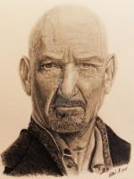 Ben Kingsley,, by HenryHolliday
