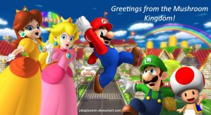 Hello from Mushroom Kingdom :D by pikaplusmin