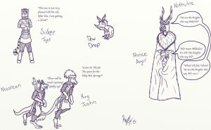 ESO, TSDS and MP Doodles 1 by kayly101