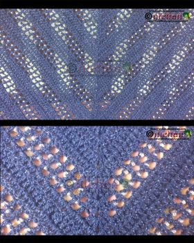 Crochet - Starry Night Shawl - Up Close Details by nichan