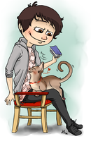 Dan and the stray kitten by orsholya
