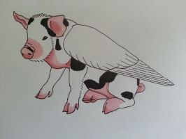 Pigs Might Fly by ArchaicMosaic