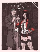 Constantine and Zatanna by RamonVillalobos