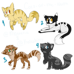 [Adopts] Free Feline Adopts -CLOSED- by Mysteeria