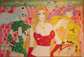Bleach Santa Girls ^^ by LaBelleEsmeralda