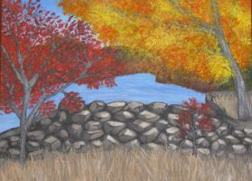 Landscape Painting by kimberly-castello