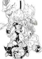 Cooler Vs saiyans by bloodsplach