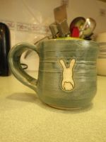 White Rabbit Mug by Bwabbit