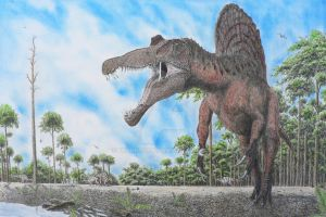Spinosaurus and Ouranosaurus by Frank-Lode
