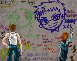 Danny and Lindsay-graffity by mrtea87