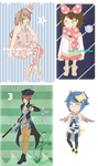 4 Adoptable GIVEAWAY [WINNERS ANNOUNCED] by cherskelle