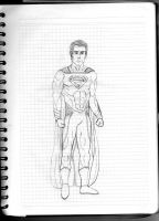 Man of Steel drawing by Almejito