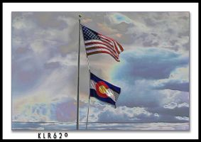 Flags Over Colorado by KLR620