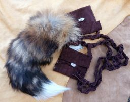 New cross fox belt pouch tail by lupagreenwolf