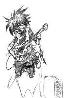 Guitar Chick by KpCloudM