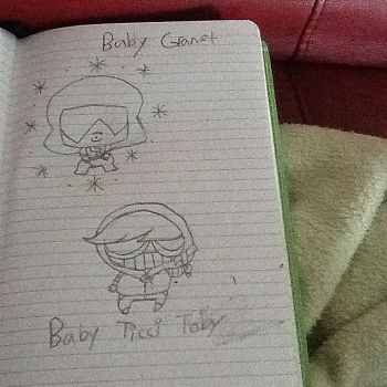 Garnet and Ticci Toby in chibi form by Jada-the-killer