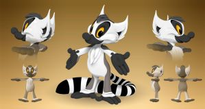 Kiki the Lemur in 3D by TimothyB