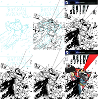BatmanSuperman_Process by gunzet