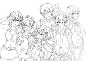 Vocaloid Lineart by Claire-Aegis-Faust