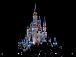 Cinderella's Castle at Disney by iCorzo