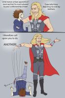 Careful with the- oh Thor. by gavorche-san