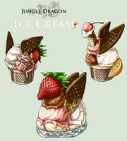 Adopt -Jungle Dragon Ice Cream- by elen89