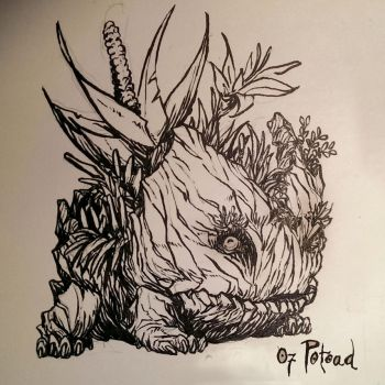 Inktober 07 Potoad by butterfrog