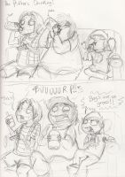 The Pitters Drinking by kibadoglover45