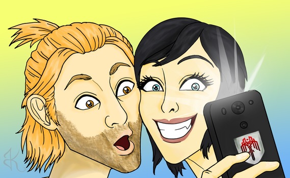 Anders and fHawke Selfie by JessieReigne